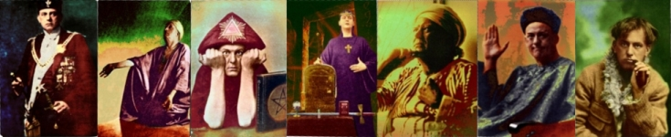 Aleister Crowley in colour