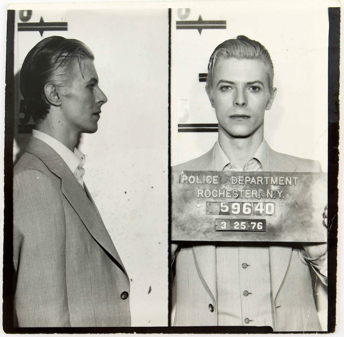 David Bowie arrested 1976 03 29 mugshot