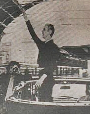 David Bowie salute that looks like a nazi salute which does NOT come across in the two videos. New Musical Express May 1976