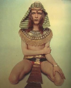 David Bowie in an Egyptian costume