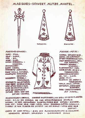 sword, hat and coat of the Fraternitas Saturni
