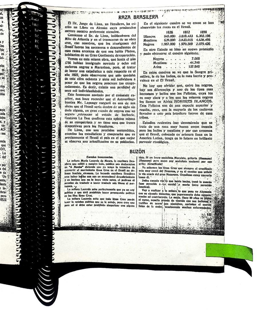Rosa-Cruz IX;2 dated 27.6.35, page 16.  Arnoldo Krumm-Heller, Buzón