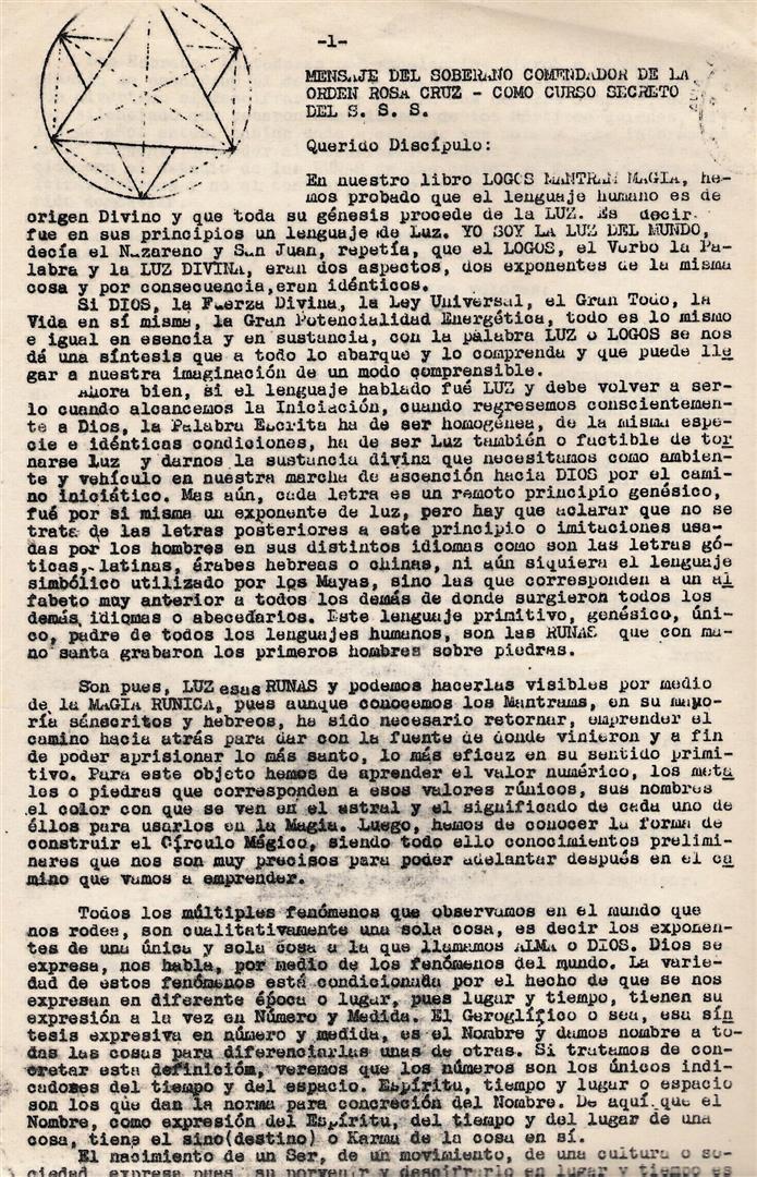 Fraternitas Rosicruciana Antiqua Arnoldo Krumm-Heller LOGIA BLANCA Magia Runas