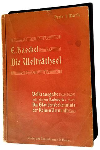 Theodor Reuss Ernst Haeckel's Weltraetsel und Unser Orden Oriflamme 1913 Welträthsel 1899