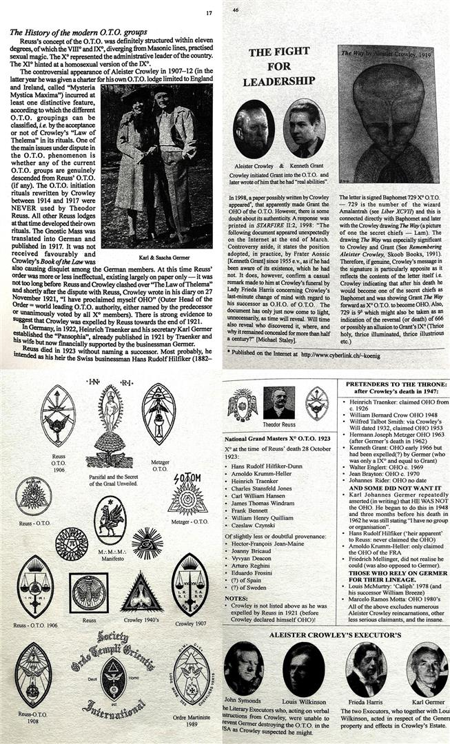 O.T.O. Rituals and Sex Magick Theodor Reuss and Aleister Crowley Anthony R Naylor Peter-R Koenig