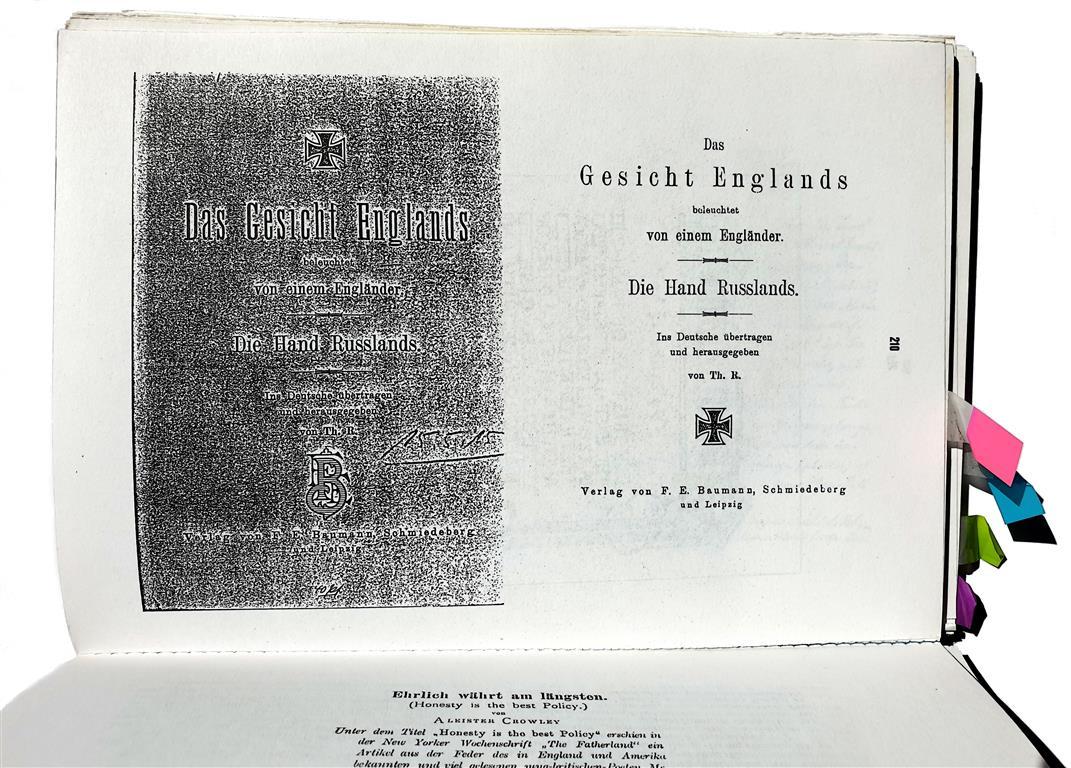 Theodor Reuss, Aleister Crowley — Das Gesicht Englands