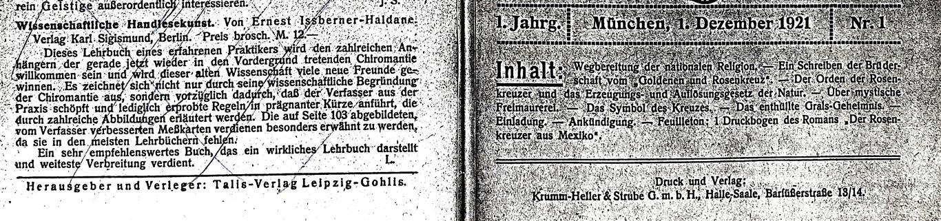 Ernst Issberner-Haldane, Arnoldo Krumm-Heller