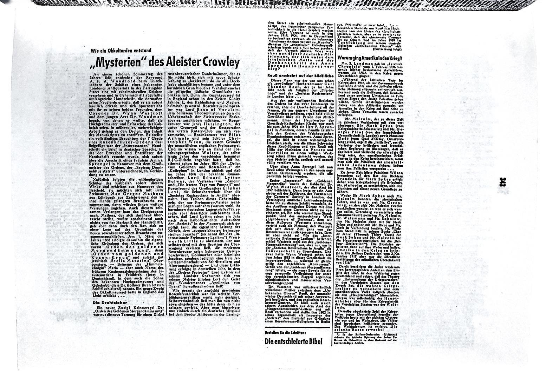 Der Judenkenner Ulrich Fleischauer Theodor Reuss Rudolf Steiner Aleister Crowley
