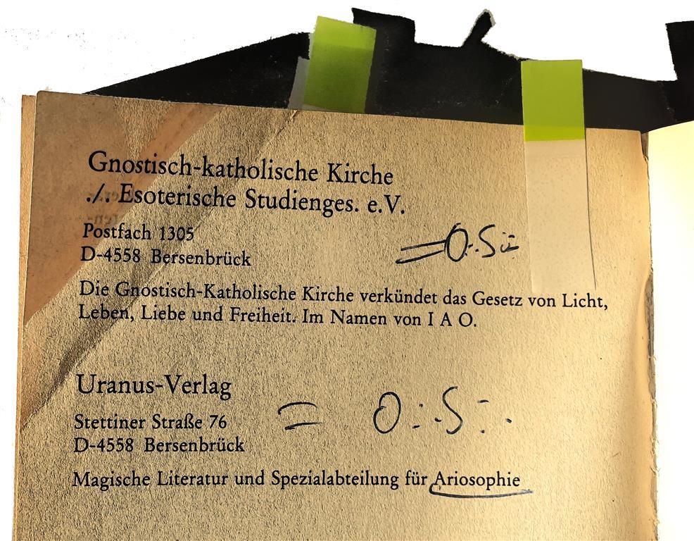 Dieter Heikaus, Set-Horus, Ordo Saturni, Ariosophie, Gnostisch-Katholische Kirche