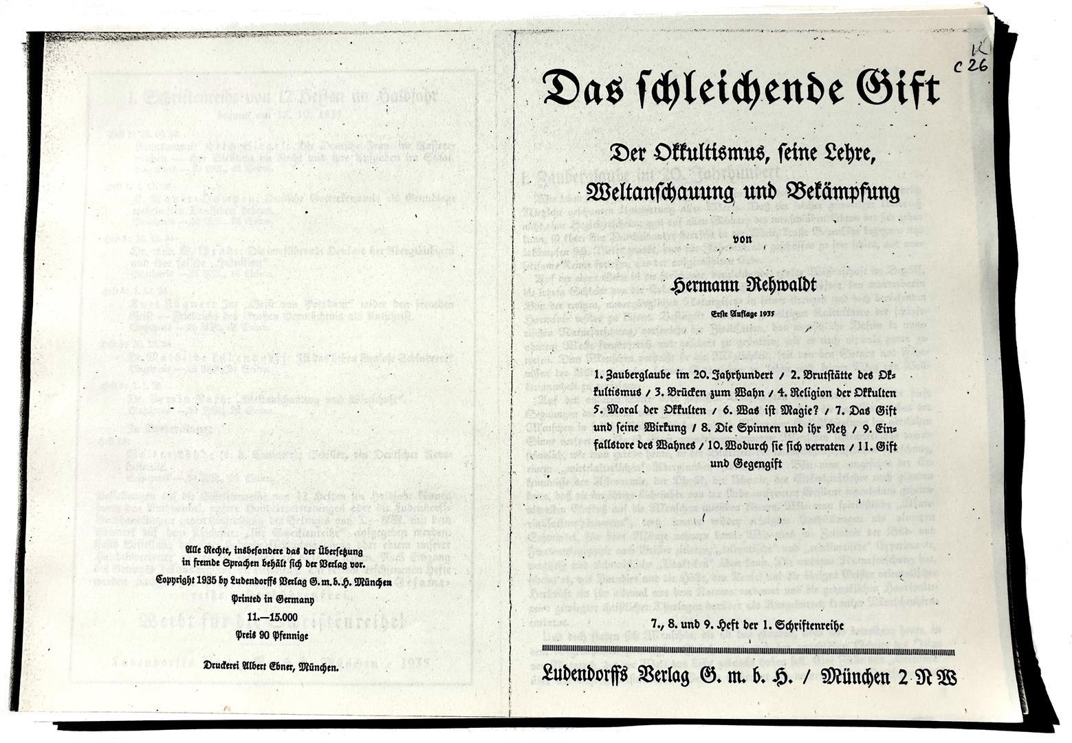 Hermann Rehwaldt, Das Schleichende Gift