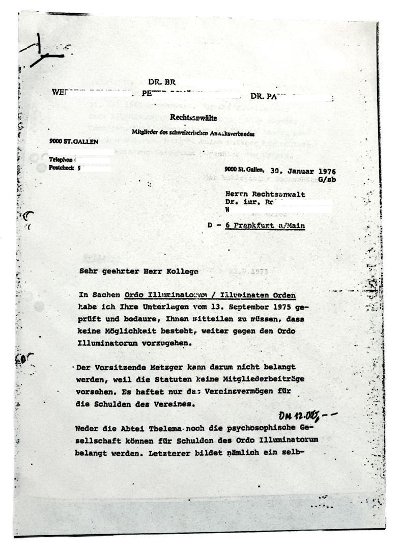 Walter Englert, Hermann Joseph Metzger, Ordo Illuminatorum