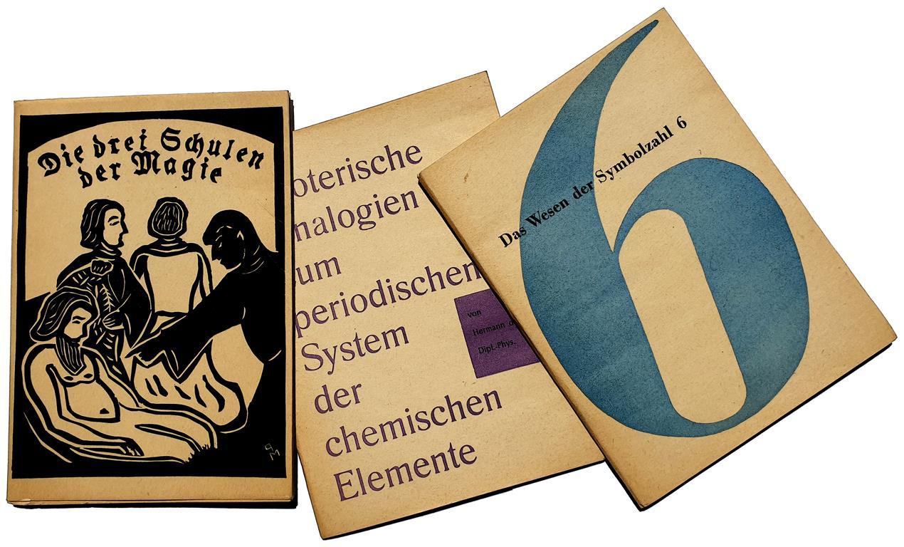 Psychosophische Gesellschaft - Die drei Schulen der Magie (Gérard Aumont, Aleister Crowley) - Esoterische Analogien zum periodischen System der chemischen Elemente - Das Wesen der Symbolzahl 6