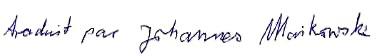 signature de Johannes Maikowski