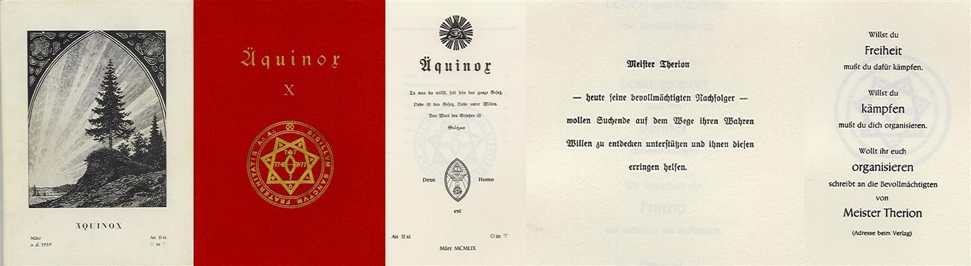 Hermann Joseph Metzger - Ordo Templi Orientis publication 1959