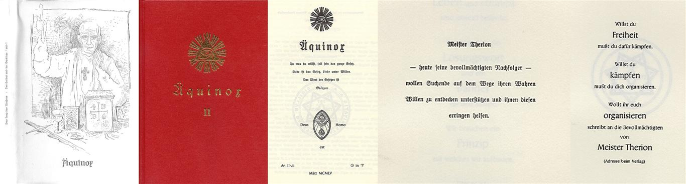Hermann Joseph Metzger - Ordo Templi Orientis publication 1955