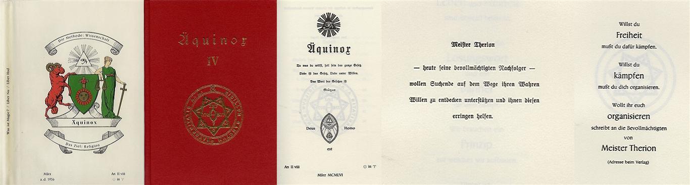 Hermann Joseph Metzger - Ordo Templi Orientis publication 1956
