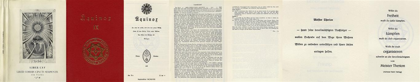 Hermann Joseph Metzger - Ordo Templi Orientis publication 1958