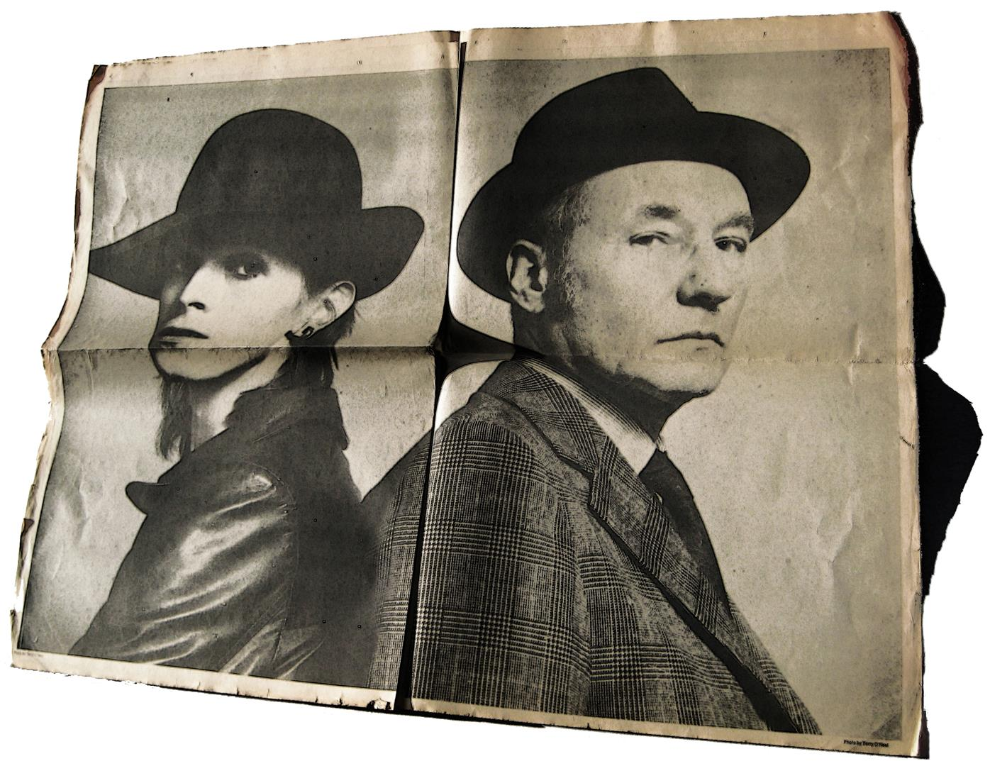 David Bowie, William S. Burroughs, Photo by Terry O'Neal, ISOLAR tour magazine 1976 Station to Station