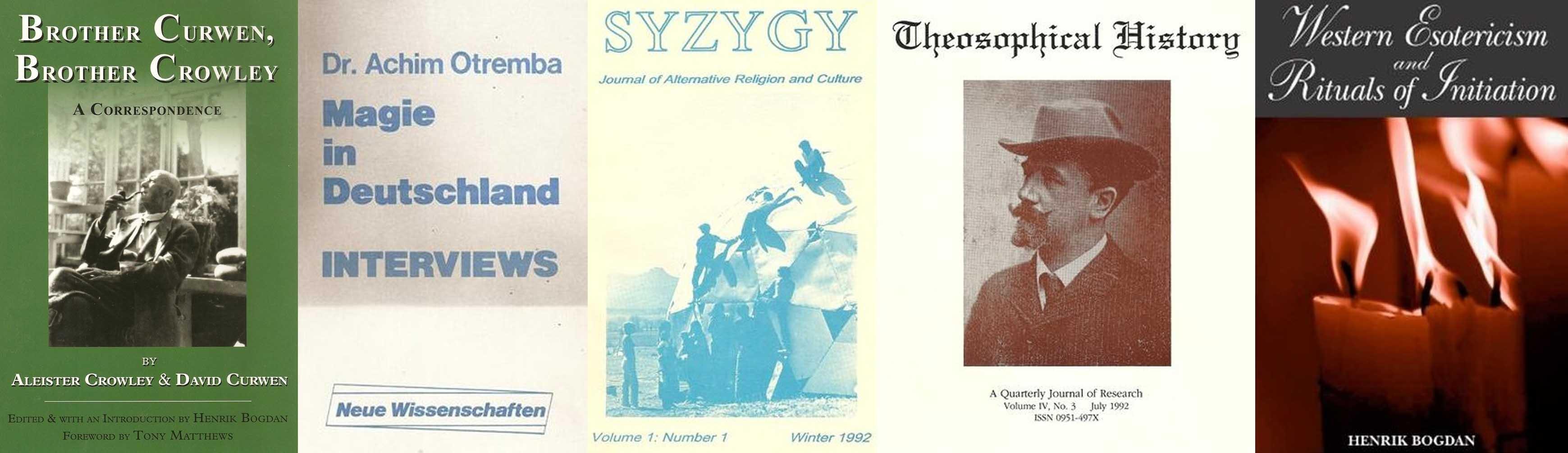 Henrik Bogdan Achim Otremba Syzygy Theosophical History