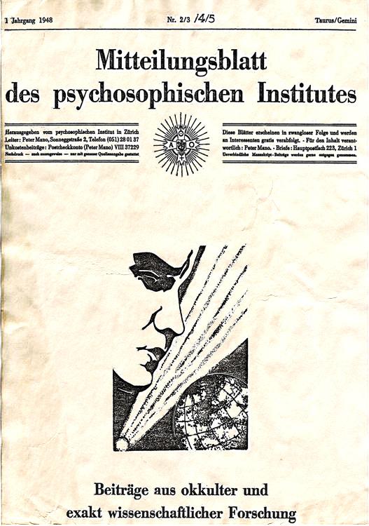 Mitteilungsblatt des Psychosophischen Institutes - Ordo Templi Orientis - Switzerland