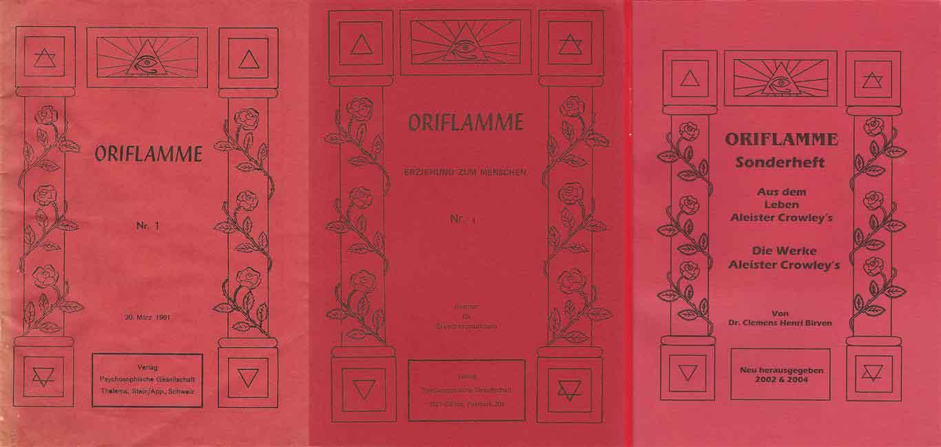 Oriflamme - Swiss Ordo Templi Orientis Switzerland - Hermann Joseph Metzger