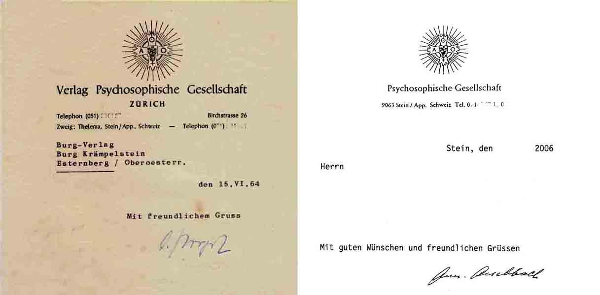 Verlag Psychosophische Gesellschaft — Ordo Templi Orientis — Illuminati