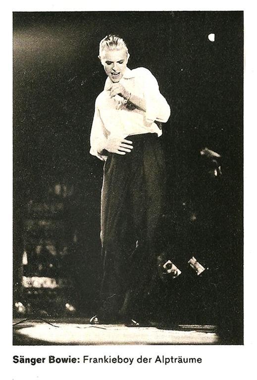 DER SPIEGEL 16, Hamburg 1976 - David Bowie, Frankieboy der Albträume. Idol des letzten Rock. Siegfried Schober
