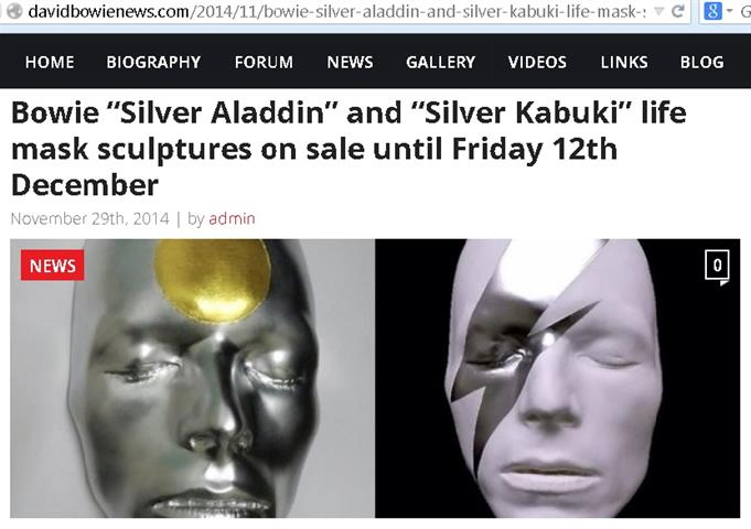 Aladdin Sane Kabuki Mask