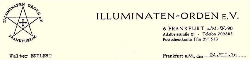 Illuminaten Orden Frankfurt Walter Englert