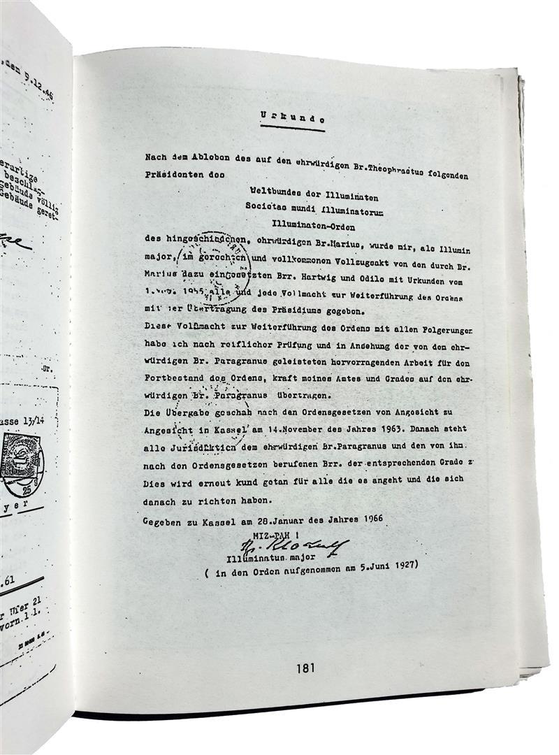 Illuminaten Orden Hermann Joseph Metzger Illuminati