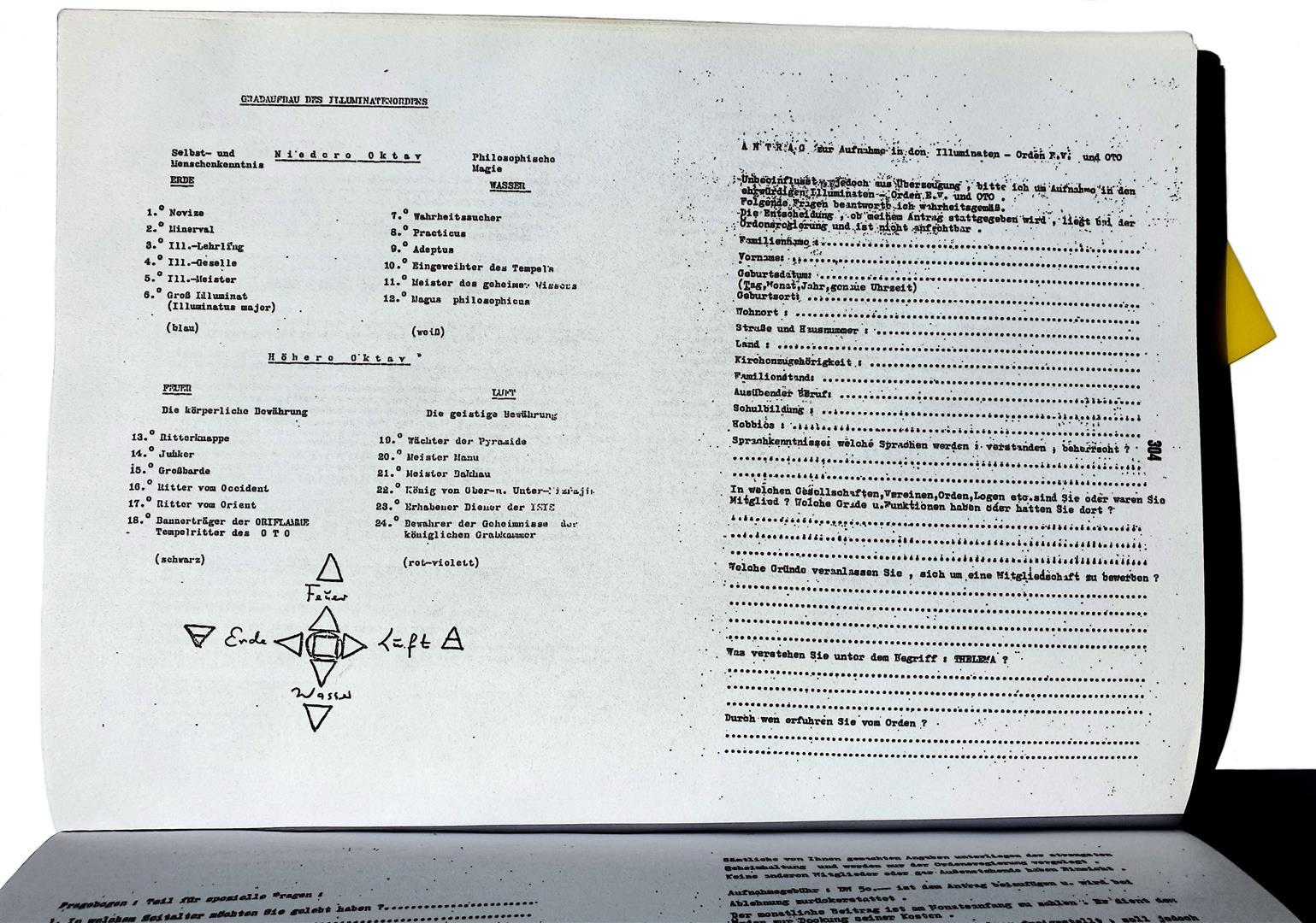 Illuminati Degrees Frankfurt Walter Englert Ordo Templi Orientis
