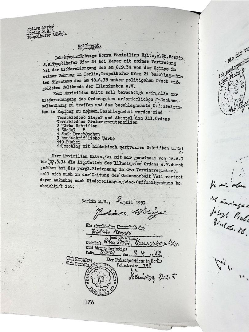 Illuminaten Orden Julius Meyer Maximilian Haitz Illuminati Gestapo
