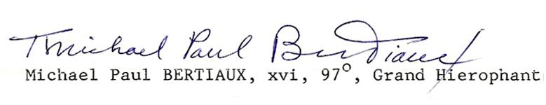 Michael Paul Bertiaux Memphis Misraim Ordo Templi Orientis Antiqua