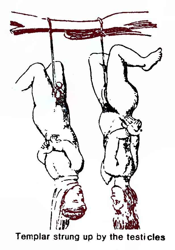 O.T.O. Ordo Templi Orientis Caliph Caliphate Oriental Templars strung up by their testicles