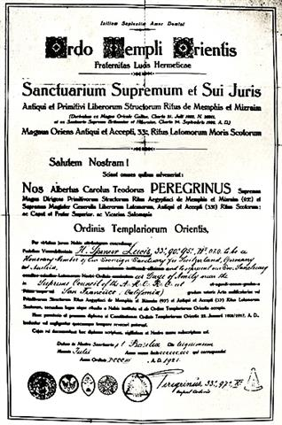 Spencer Lewis, Theodor Reuss, Ordo Templi Orientis, A.M.O.R.C