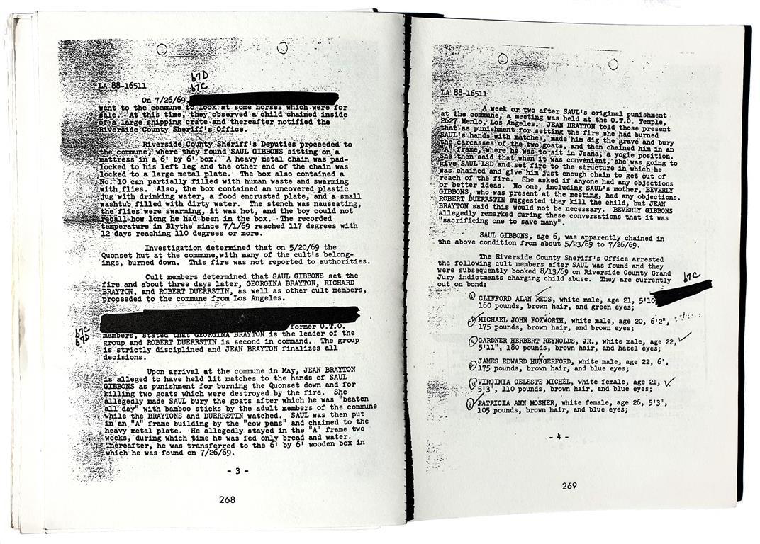 Solar Lodge of the O.T.O. Ordo Templi Orientis FBI files