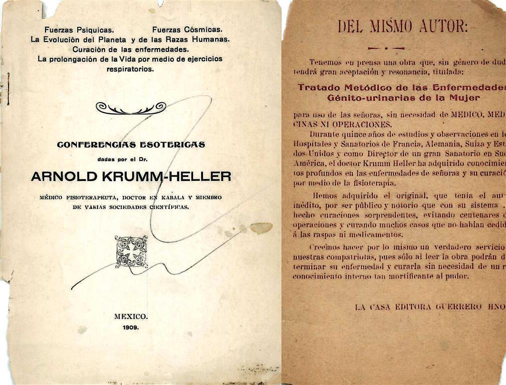 Arnold Krumm-Heller Conferencias Esotericas Tratado Metódico de las Enfermedades Génito-urinarias de la Mujer