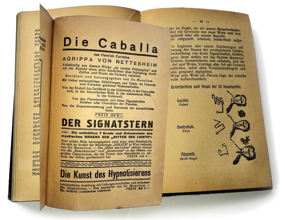 Franz Sättler Dr Musallam Der Wahrhaftige Feurige Drache Beschwörung Lucifer Beelzebub Astaroth Adonistischer Verlag Der Signatstern