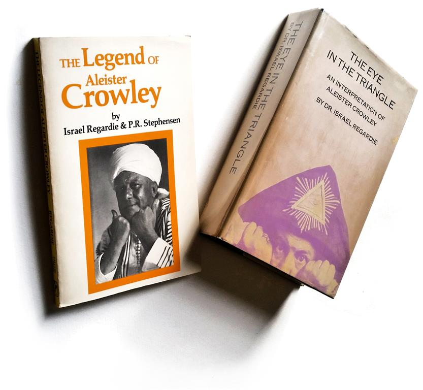 Israel Regardie and P.R. Stephensen: The Legend of Aleister Crowley. London 1930. Second  Printing Saint Paul, Minnesota 1970. Israel Regardie: The Eye in the Triangle. An Interpretation of Aleister Crowley. St. Paul, Minnesota 1970.