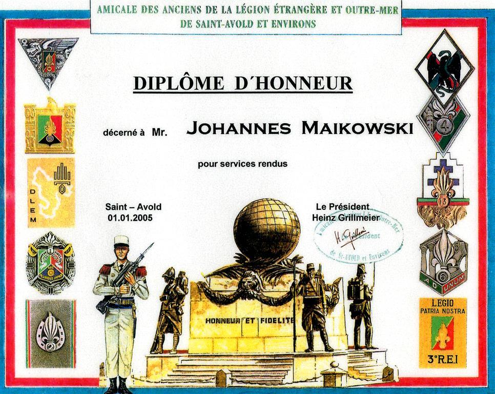 Johannes Maikowski Fremdenlegion