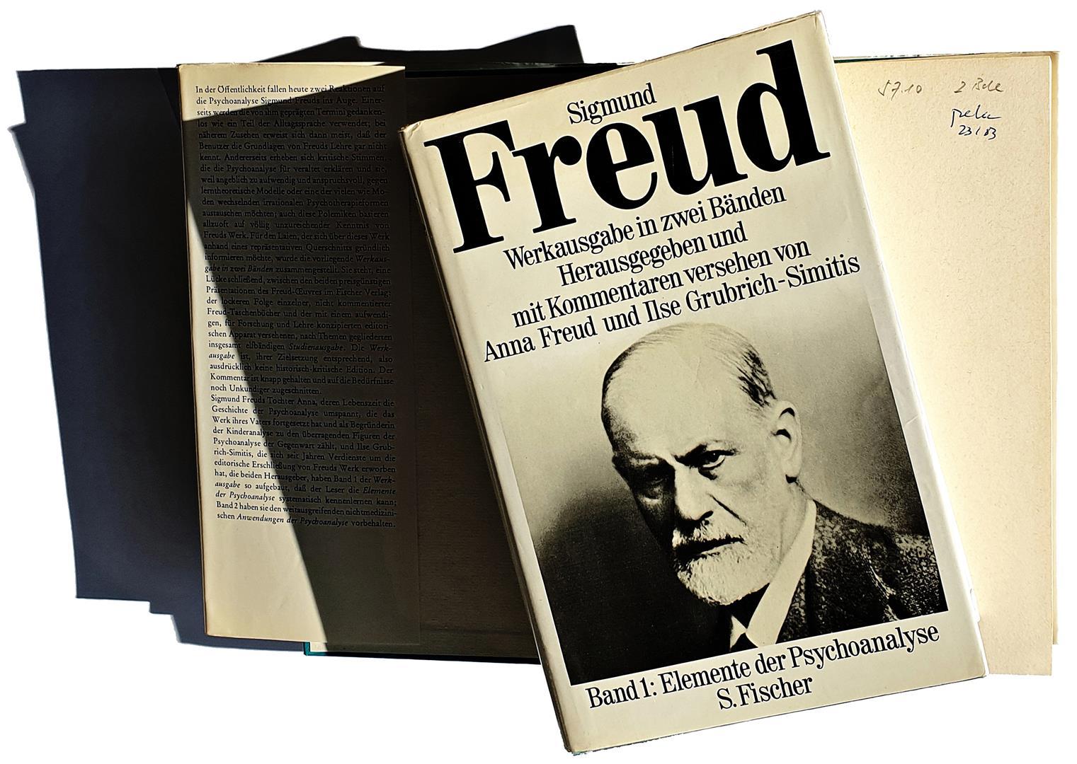 Sigmund Freud - Werkausgabe in zwei Bänden. Herausgegeben und mit Kommentaren versehen von Anna Freud und Ilse Grubrich-Simitis. S. Fischer, Frankfurt am Main, 1978.