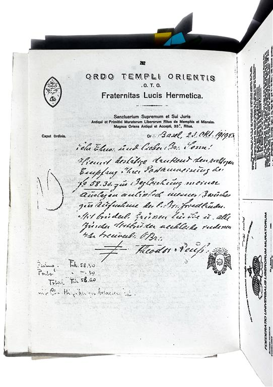Theodor Reuss Ordo Templi Orientis Fraternitas Lucis Hermetica