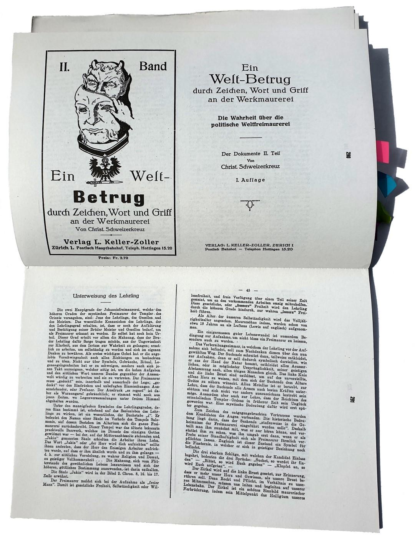 Baron Herbert von Bomsdorff-Bergen Libertas et Fraternitas Christian [Schweizer]kreuz