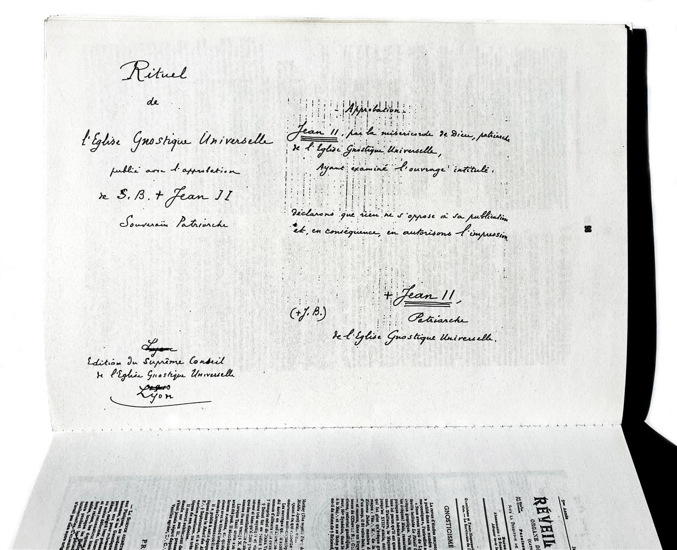 Jean Johannès Bricaud L'Église Gnostique Universelle