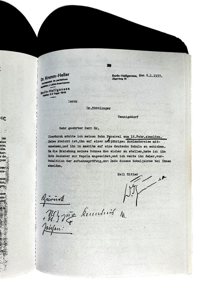 Cuauthemoc Krumm-Heller 1937 Nazi elite school NAPOLA