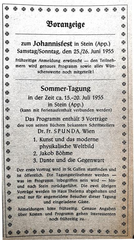 Franz Spunda Illuminaten Orden Ordo Templi Orientis Stein Sankt Gallen Thelema
