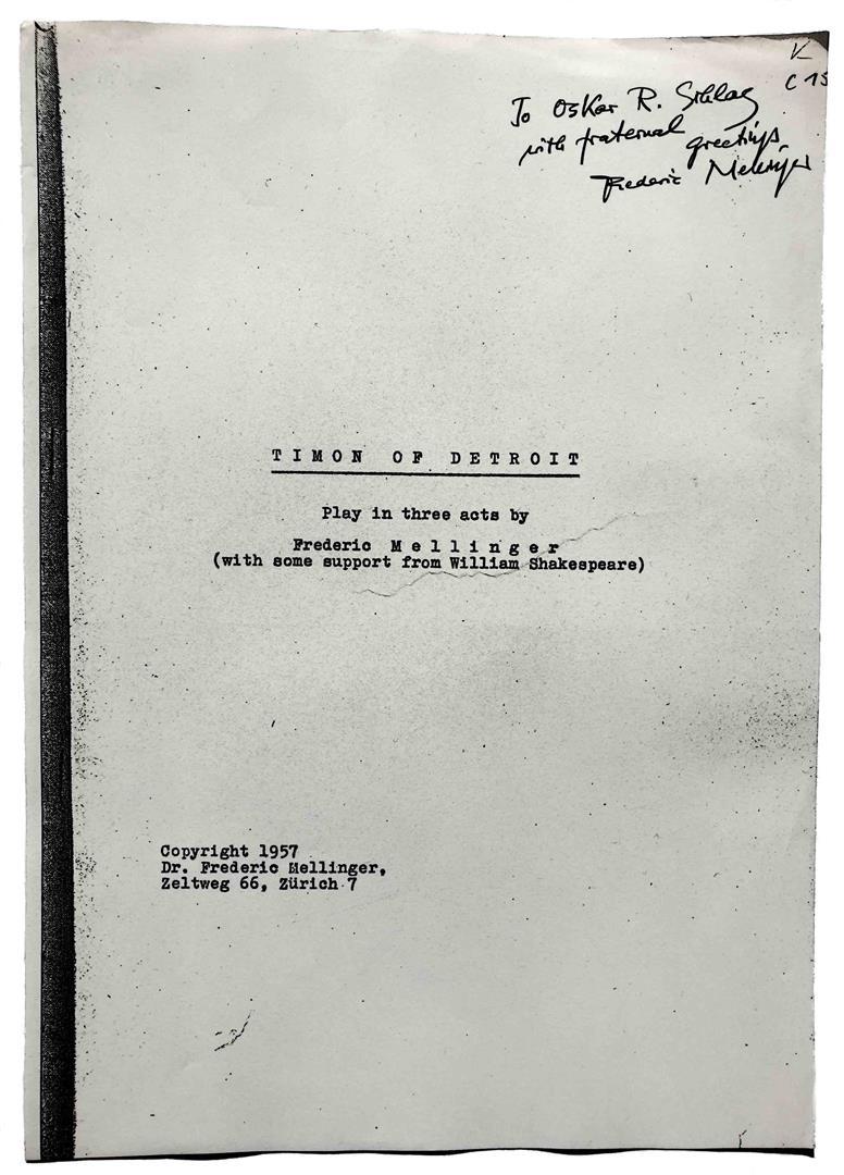 Friedrich Frederic Mellinger Timon of Detroit Oscar Schlag Ordo Templi Orientis