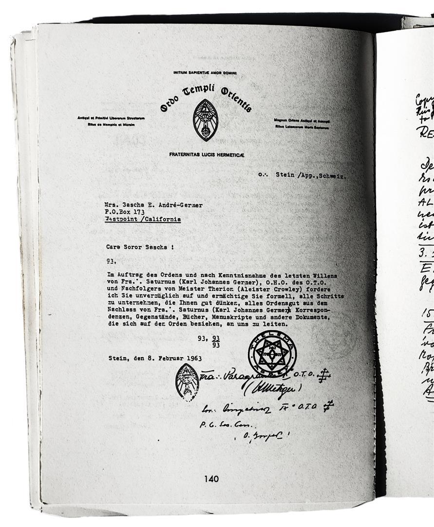 Hermann Joseph Metzger Sascha Germer Ordo Templi Orientis