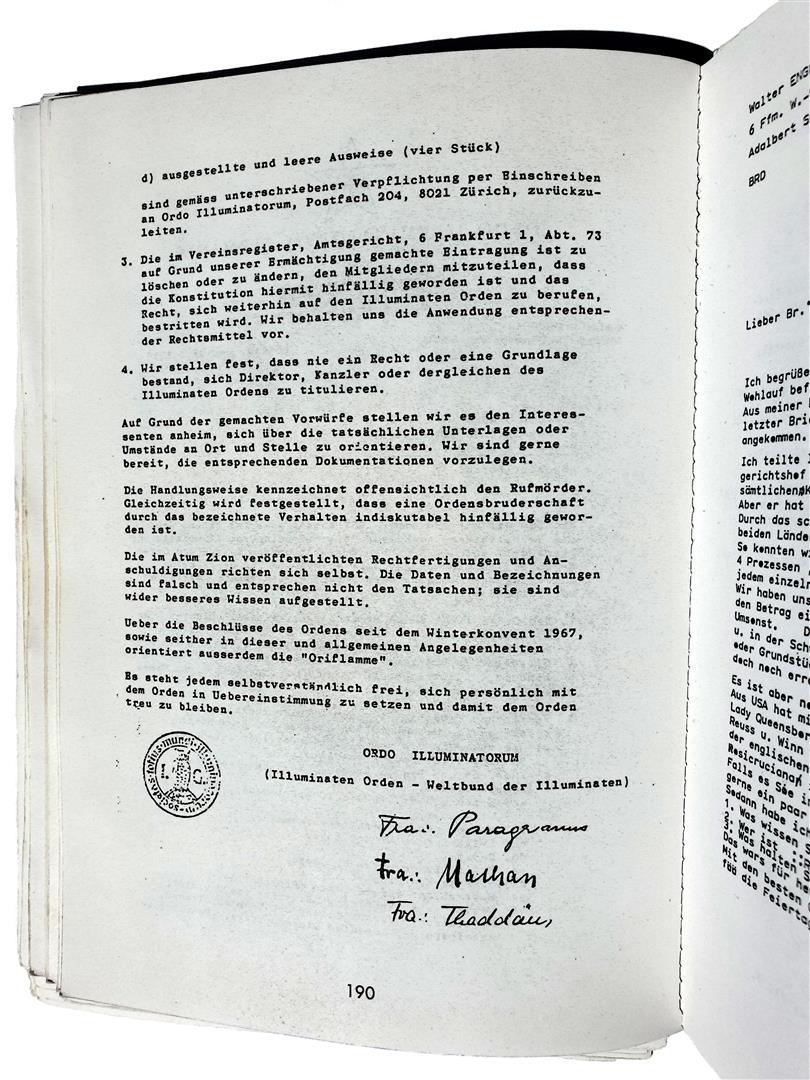 Hermann Joseph Metzger Frankfurt Ordo Illuminatorum Walter Uta Englert Paul Rüdiger Audehm Peter Lerch