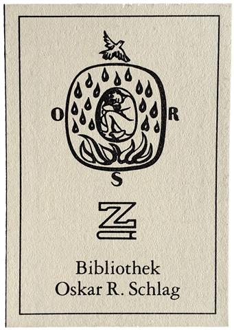 Oscar R Schlag Exlibris Bibliothek